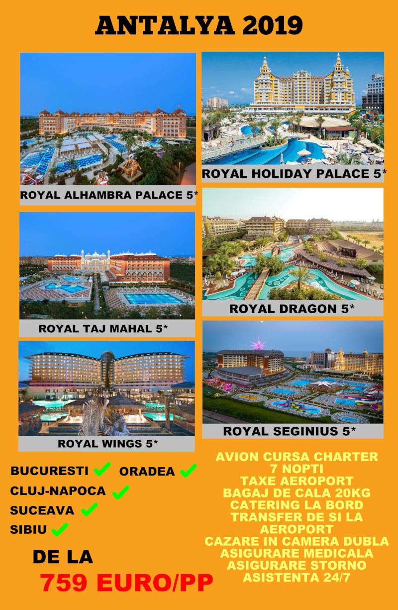 Early Booking Antalya 2019 hoteluri Royal