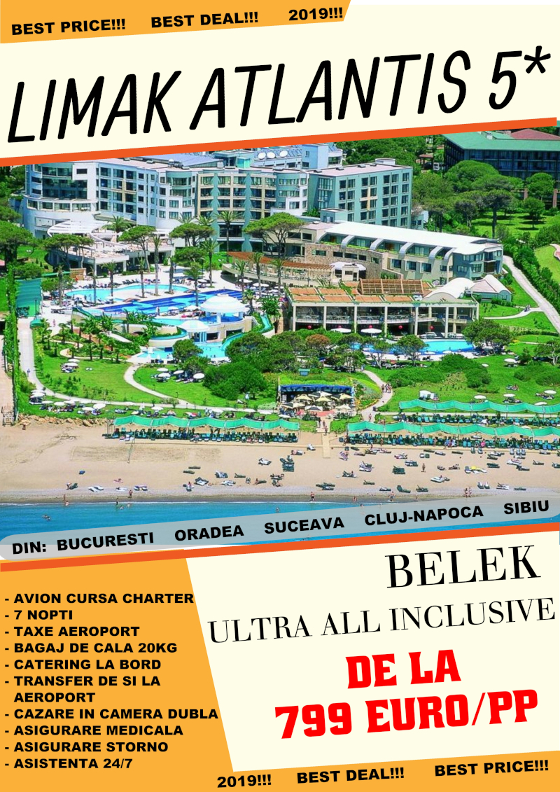 Early Booking Alanya 2019 hotel Limark Atlantis