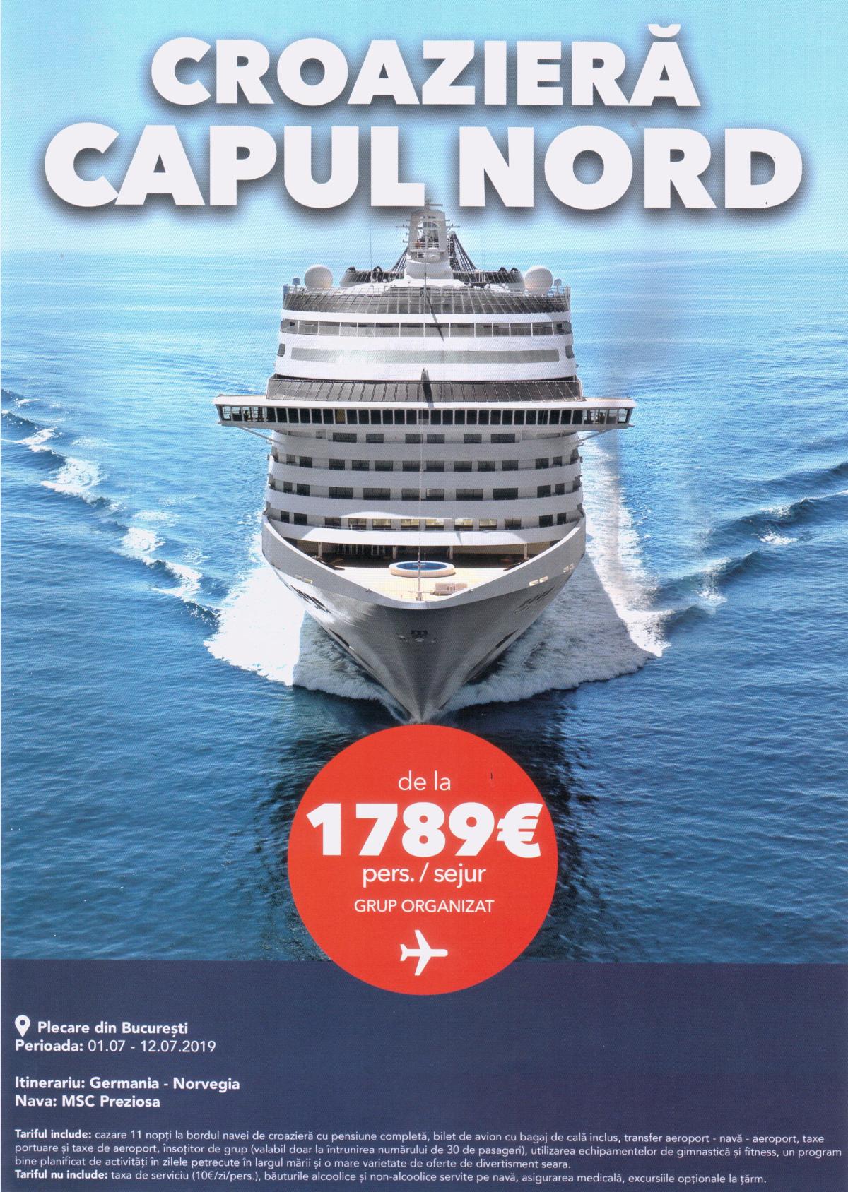 Croaziera vas Capul Nord Germania - Norvegia