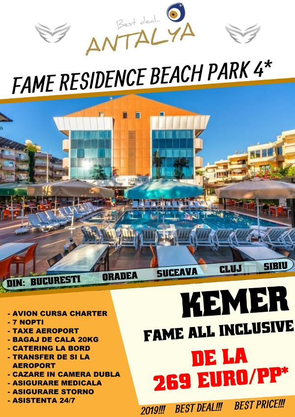 Fame Residence Beach Park - kemer