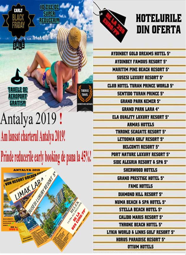Oferte Antalya 2019