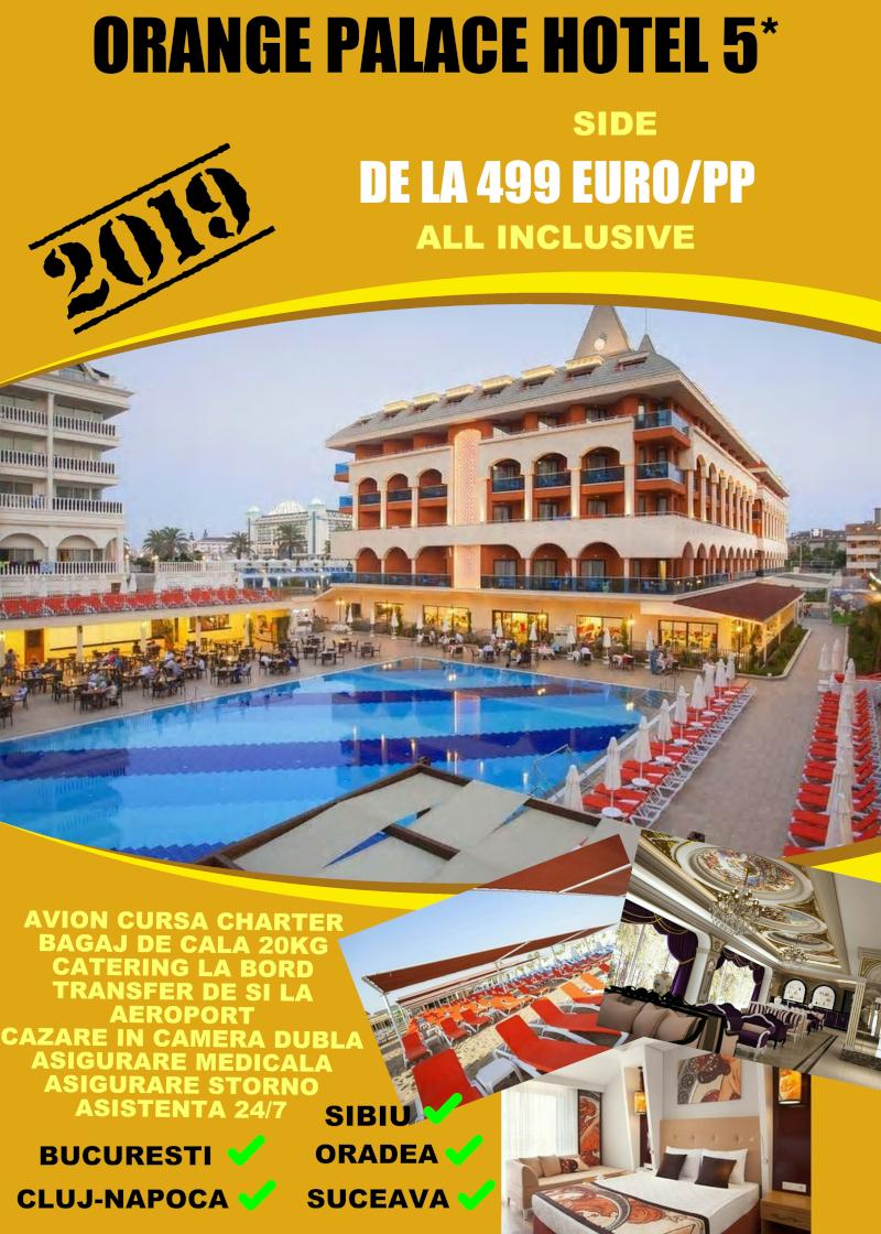 Early Booking Antalya 2019 hotel Orange Palace