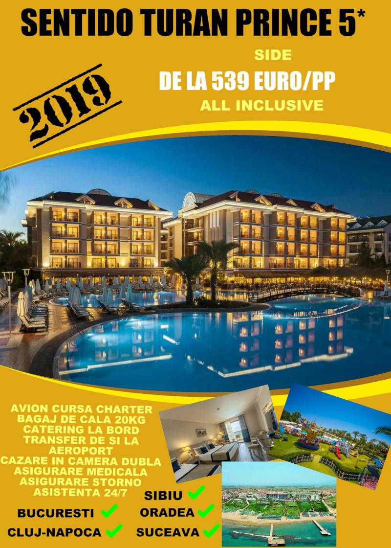 Early Booking Antalya 2019 Sentido Turan Prince